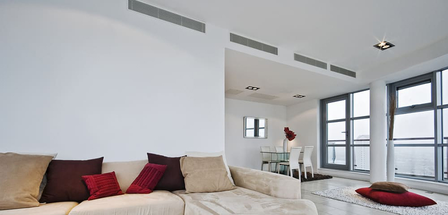 Mondern House showing ducted Air Conditioning Vents