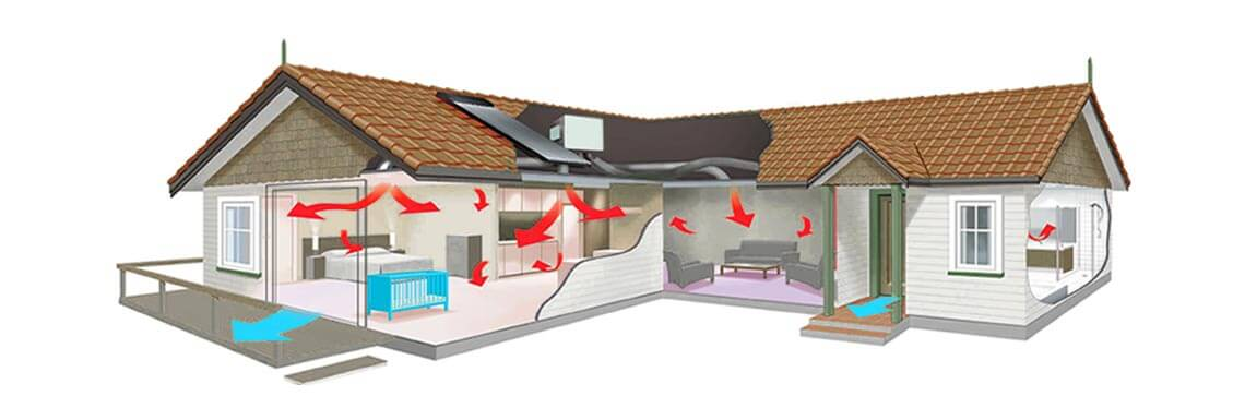 ducted reverse cycle air conditioning FROM REEF AIR